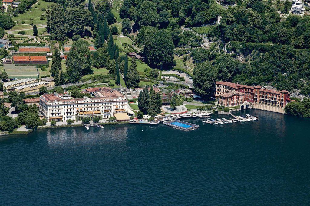 Villa d'este from the sky