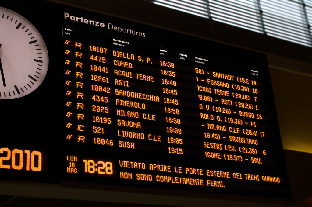 Major railway interchanges - Italy by train.