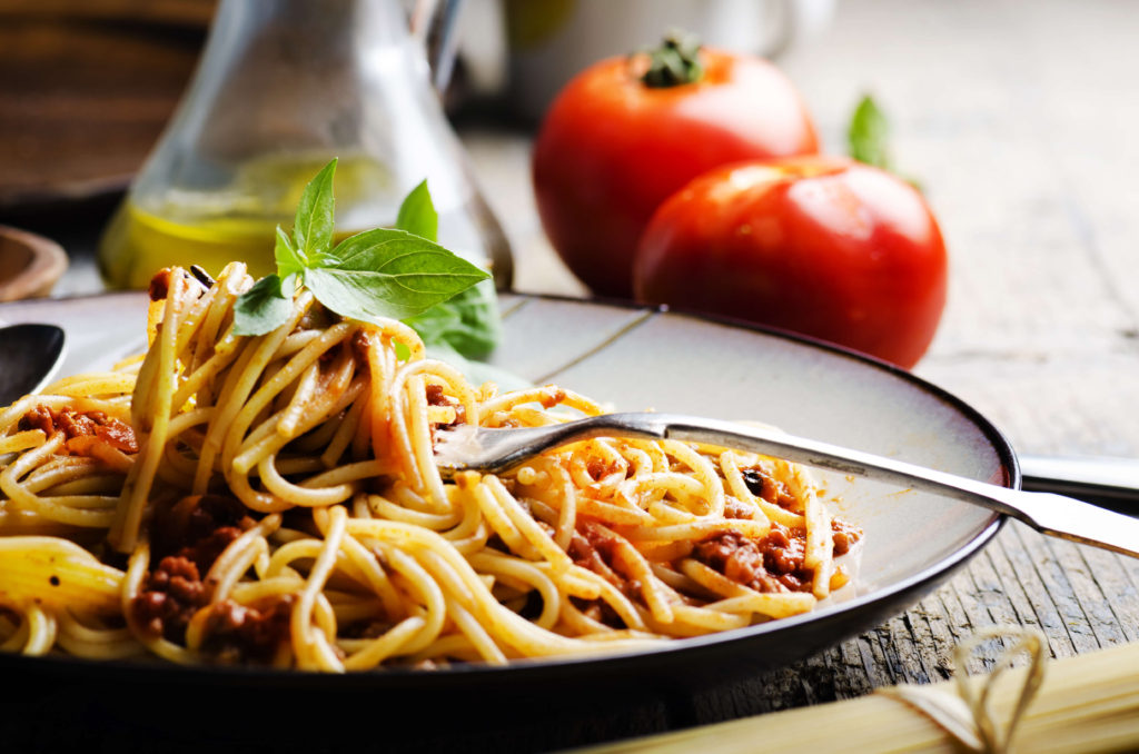 Spaghetti bolognese is actually called tagliatelle al ragù in Italy.