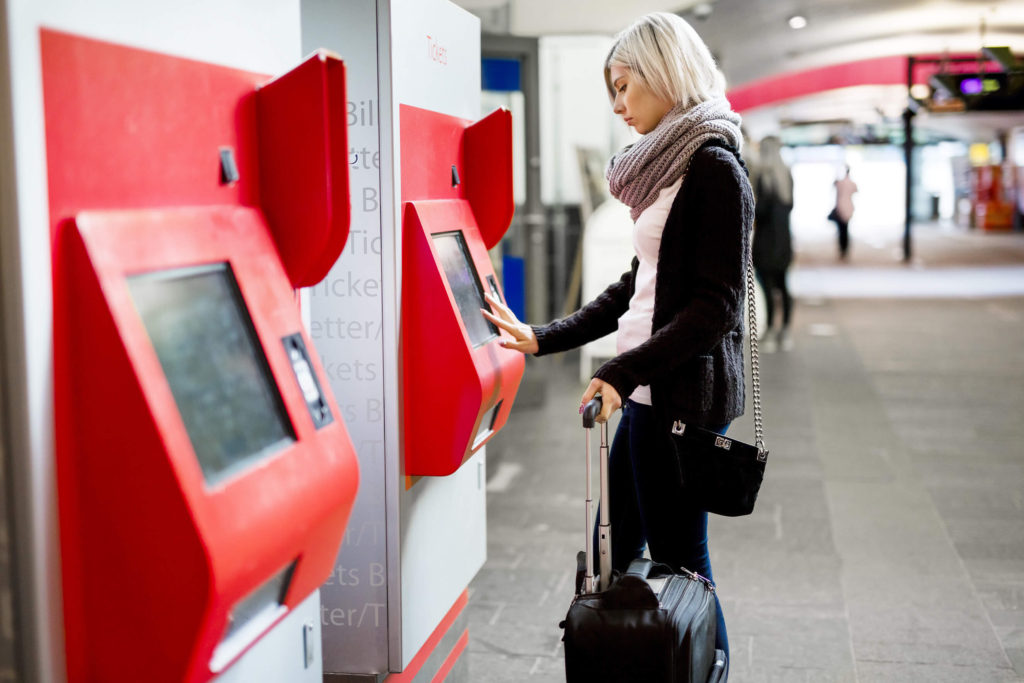 Use the self-service machines to buy your ticket when travelling Italy by train.