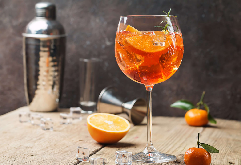 The Aperol Spritz is one of the most famous Italian cocktails