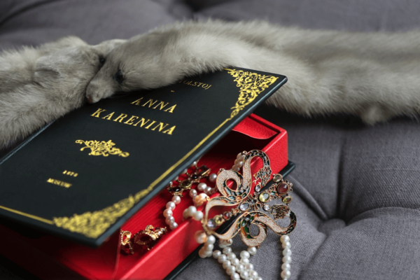 Bags By M. Book Clutches, Anna Karenina title
