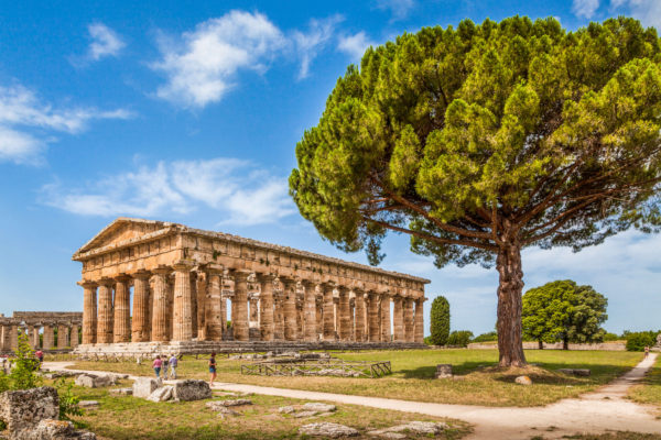 Ancient Greek ruins in Paestum, Campania