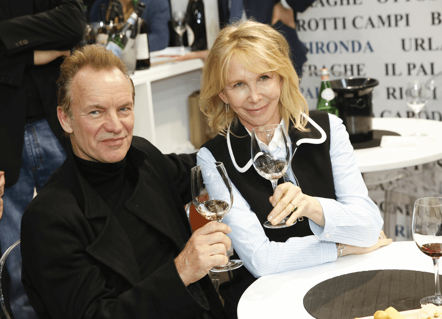 Sting & Trudie Styler drinking Il Palagio wine