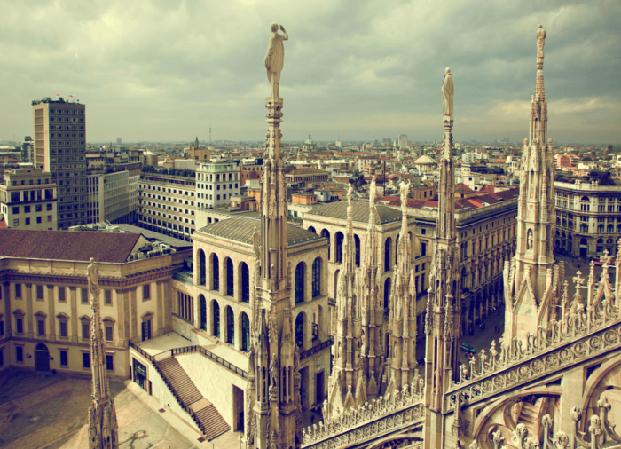 Milan Cathedral (Duomo di Milano), view from the top
